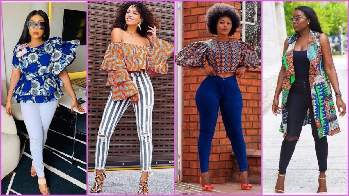 Ankara Shirt Styles for Ladies